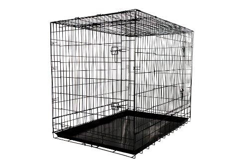 Allmax 3 Door Folding Metal Dog Crate With Steel Tray