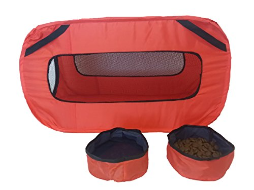 Pet Dog Cat Travel Kennel Carrier Pop Up Collapsible