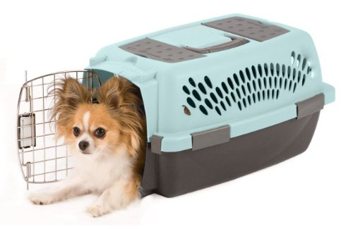 Petmate Pet Taxi Fashion Kennel Small Blue Air Coffee