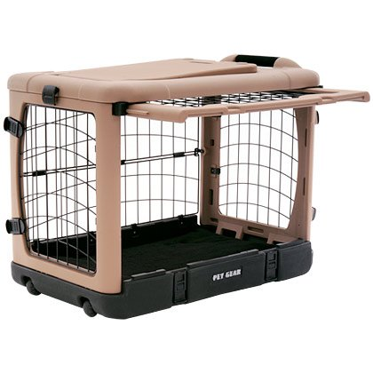 The Super Dog Crate Large 42 Quot Tan Black By Pet Gear K9