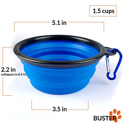Collapsible Travel Dog Bowl Set Of 3 By Buster Pets
